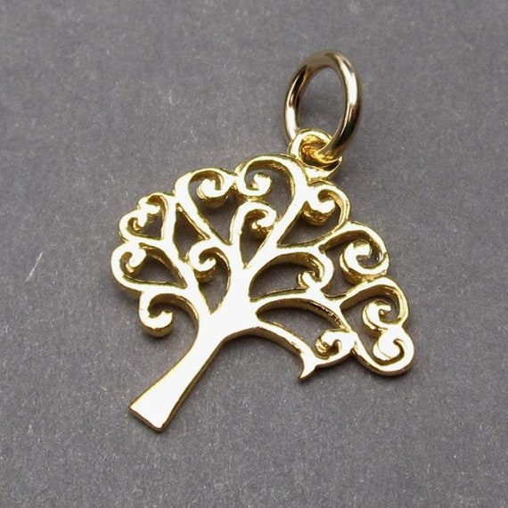 ❤ 10 x BRONZE Charms TREE OF LIFE Pendant 22mm Jewellery Making ❤