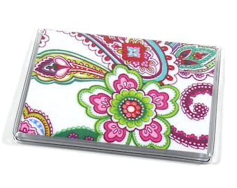 Card Case Mini Wallet Punch of Paisley