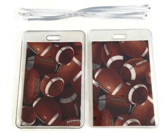Luggage Tags Set of 2 Football