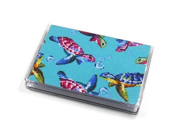 Card Case Mini Wallet Swimming Turtles