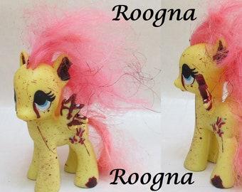 Zombie Applejack My Little Pony Fim Custom Halloween Scary Etsy