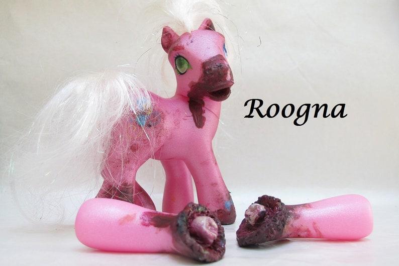 Zombie Pinkie Pie My Little Pony Fim Custom Halloween Scary Etsy