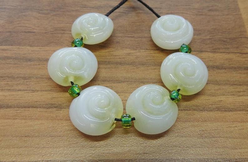 lentil beads Lampwork bead set