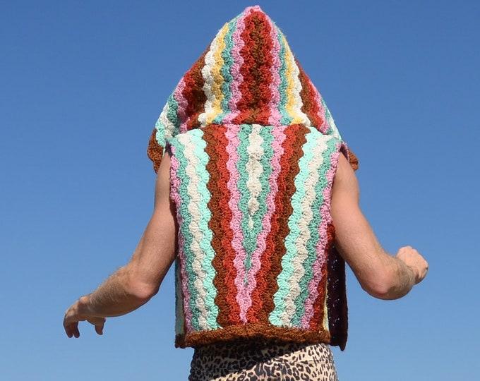 Crochet Vest Desert Stripes