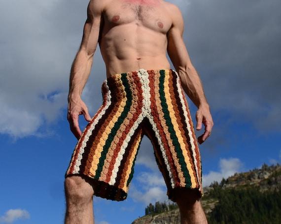 Crochet Shorts Sylvan Stripes XL