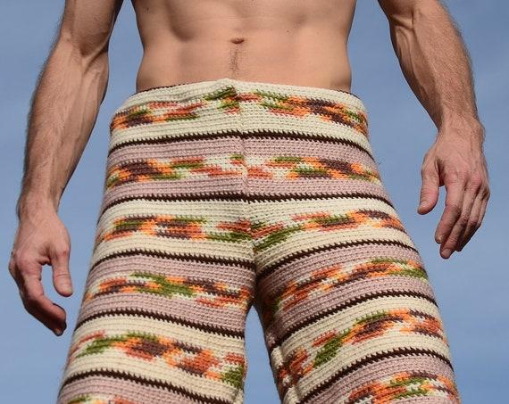 Crochet Long Board Shorts Southwest Stripes L