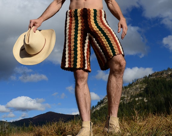 Crochet Shorts Sylvan Stripes M