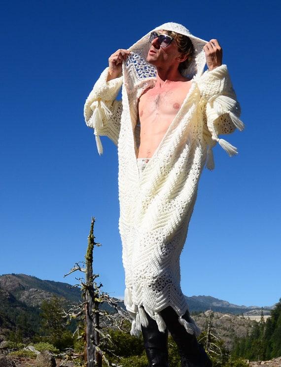 Robe Crochet Robe White Crochet Sweater Tassels Tassels Sweater Sweater White White Robe Crochet Y5PPxqrw