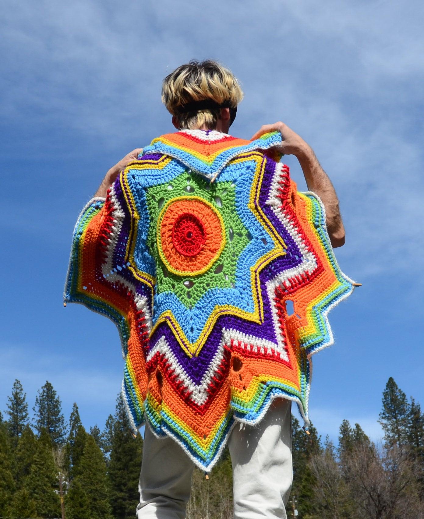 Crochet Parasol Rainbow Stars