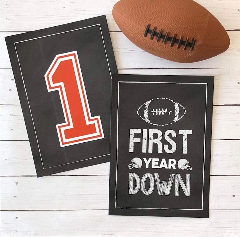 Football  First Year Down Signs  5x7 and 8x10