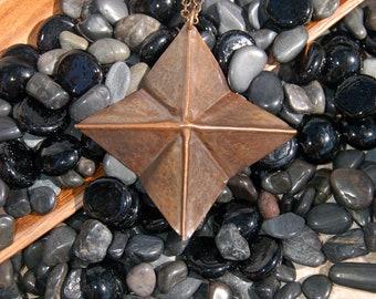 Fold Formed Copper Cross Pendant......no. 7404