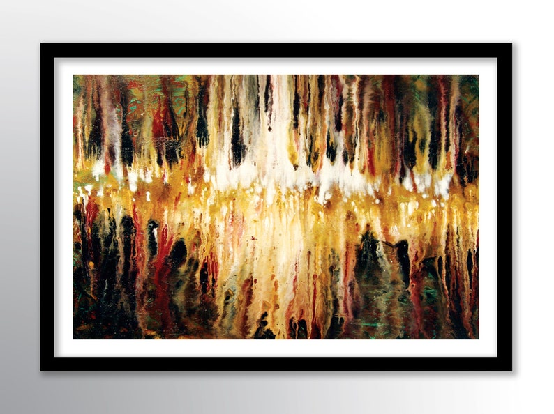11x17 PRINT Abstract Painting on Glossy Cover Stock Wall Art image 0