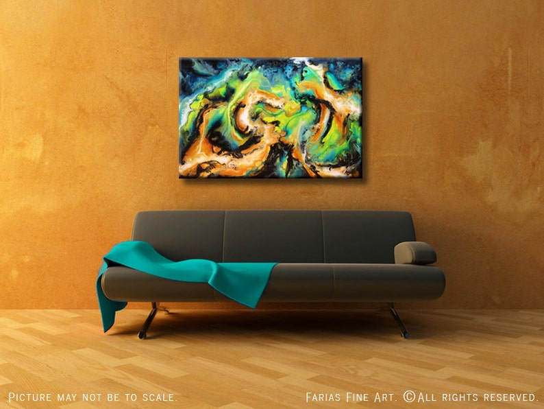 Original Abstract Painting. Acrylic on a 24x36 Canvas. Modern image 0