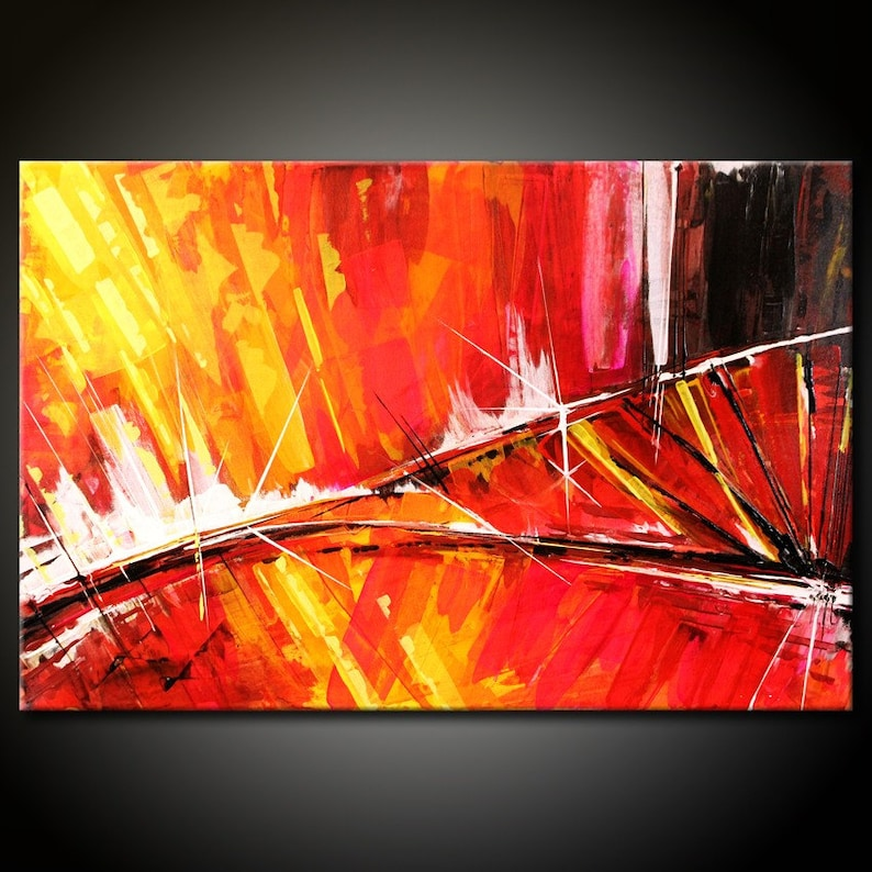 Abstract Painting MADE TO ORDER Original Modern 24x36 Canvas image 0