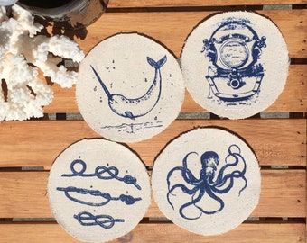 nautical garden decor.htm fathers day gift nautical drink coasters beer coasters wine etsy  drink coasters beer coasters wine