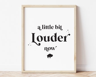Buffalo Bills Wall Art Decor, NY Print for the Home, A Little Bit Louder Now Poster Sign, 716 Decorations, Housewarming Gift