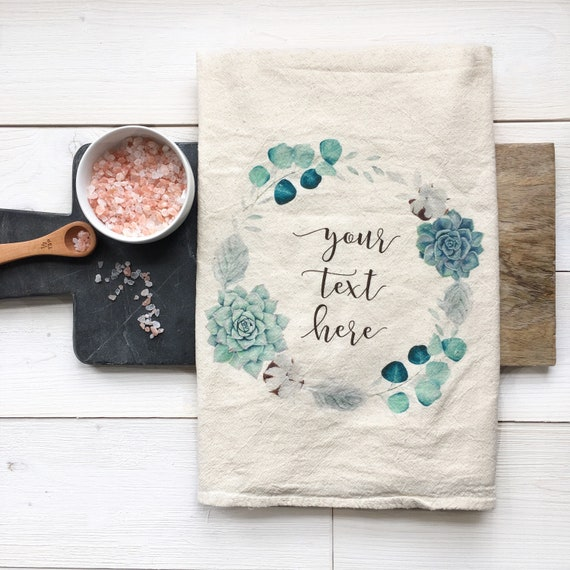 Tea Towels Unique: Design Your Own Custom Tea Towel Personalized Flour Sack