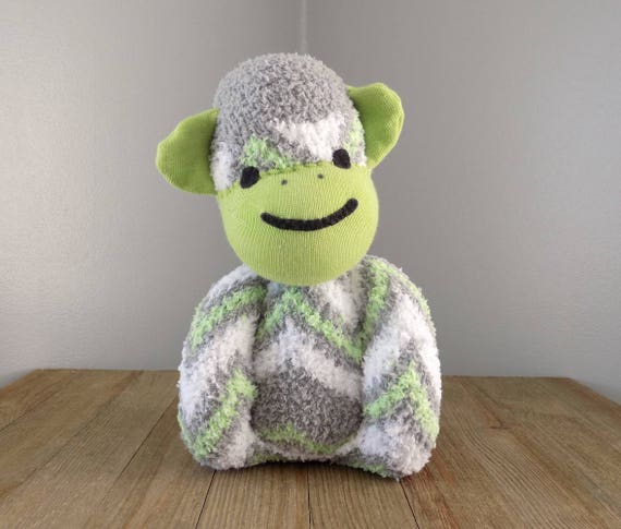 Monkey Stuffed Toy Safe For Babies And Toddlers Baby Safe Etsy