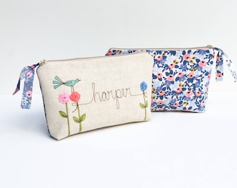 Rifle Paper Co, Personalized Makeup Bag, Gifts for Sister, Makeup Organizer, Cosmetic Bag, Sister Gift, Floral, Make Up Bag for Her