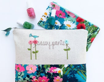 Customized Makeup Bag, Bridesmaid Proposal Gift, Cosmetic Bag, Bachelorette Party Storage, Survival Kit, Cosmetic Case, Toiletry Pouch
