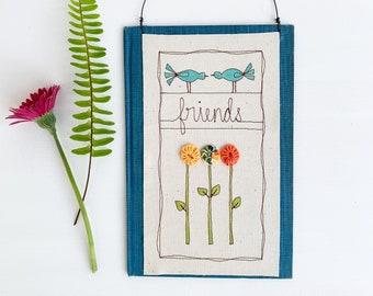 Gift for Best Friend, Friends Birthday Gift, Wall Hanging Decor, Friendship Gift, Floral, Best Friend Gift, Apartment Decor, Housewarming