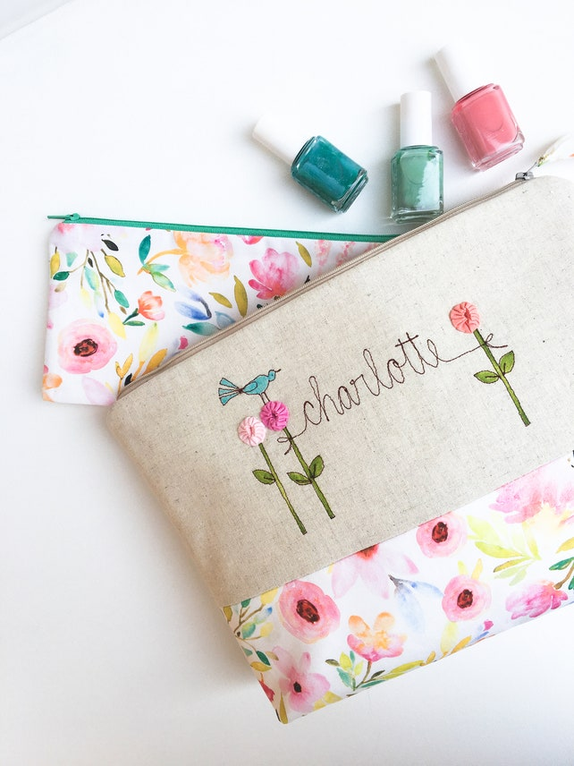 Floral Cosmetic Bag Baby Shower Hostess Thank You Gift Etsy