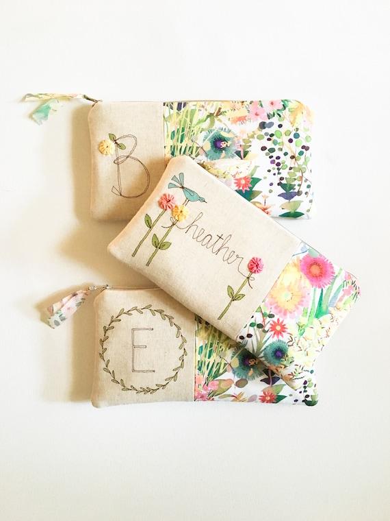 Cadeau Femme Personnalisé Cadeau Personnalisé Pour Les Femmes Cadeaux Danniversaire Pour Elle Floral Embrayage Meilleur Ami Cadeau Cadeau