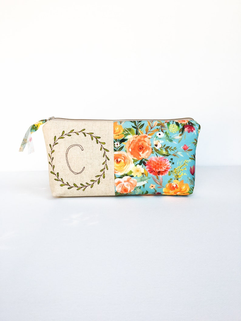 Cosmetic Bag Personalized Gifts For Women Monogram Makeup