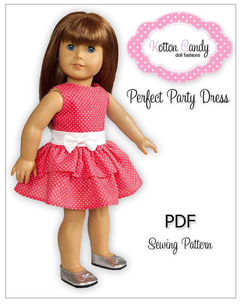 PDF Sewing Pattern for 18 Inch American Girl Doll Clothes  image 0