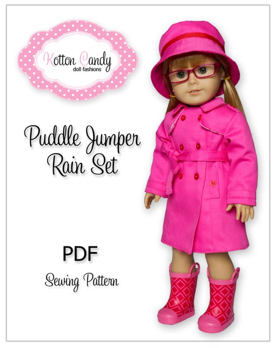 American Girl Raincoat Sewing Pattern PDF Doll Clothes | Etsy