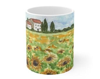 Tuscany Sunflowers Ceramic Mug 11oz