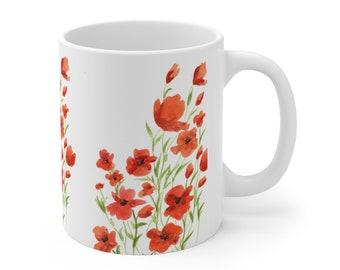 Poppies Ceramic Mug 11oz