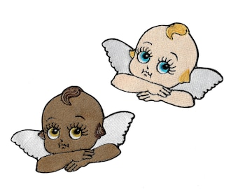 Kewpie Angels- Embroidered sew-on Patch