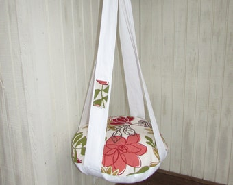 Cat Bed. White Floral Single Cat Bed, Kitty Cloud, Hanging Cat Bed, Pet Furniture, Gift, Cat Tree