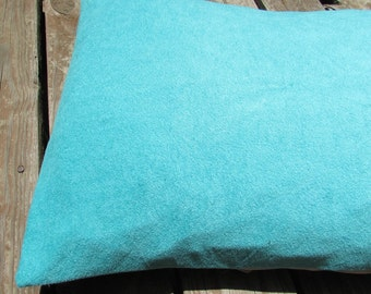 Pet Bed Cover Duvet, Turquoise & Sand, Canine Cloud Dog Bed Cover 25 x 19, Pet Furniture, Gift