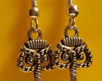 Owl Key Earrings