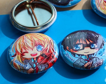 Your Lie in April buttons (2)