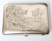 RESERVED for St. Vintage metal cigarette case, holder from USSR, for Hunter.