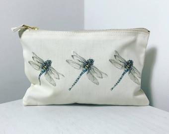 Dragonfly Makeup Bag or Pencil Case
