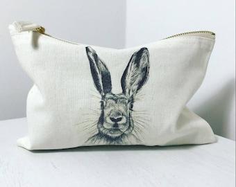 Bunny Makeup Bag or Pencil Case