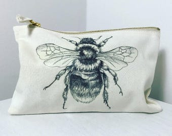 Bumble Bee Makeup Bag or Pencil Case
