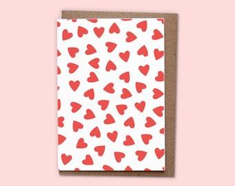 LOVE  Greetings card + recycled envelope