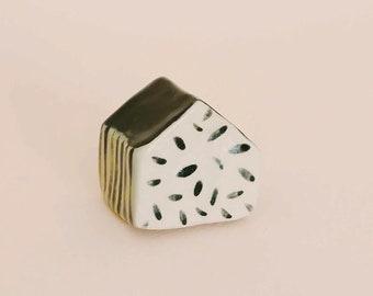 Cute ceramic tiny house - black pattern