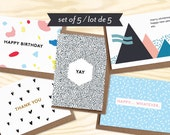 100 Sets of 5 greetings card w/ envelopes