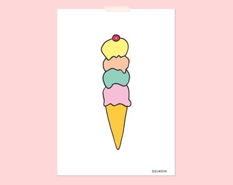 Ice cream / Poster A4 (8,27 x 11,69')