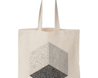 Tote bag  Cube sérigraphié