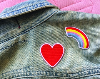 RAINBOW Embroidered peel & stick patch