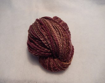 Handspun Yarn - Chocolate Raspberry Truffle