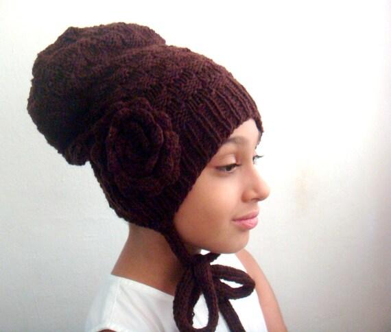 Stricken Sie Slouchy Hut Muster große Blumenmuster häkeln | Etsy