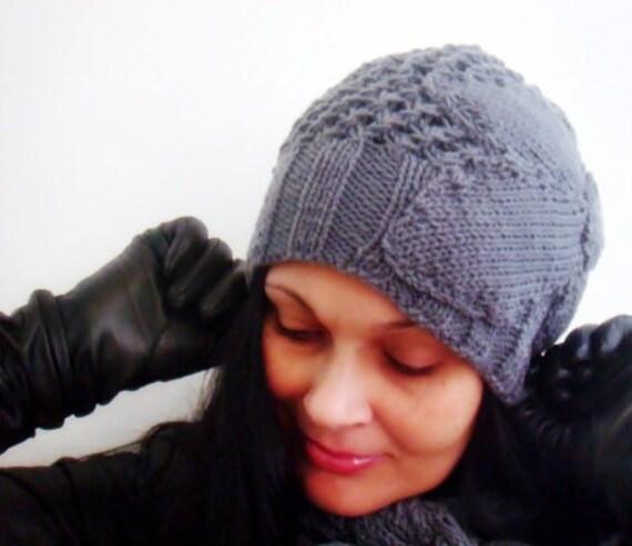 Romantic Slouchy Hat Knitting Pattern Knit Beanie Pattern Knit Etsy